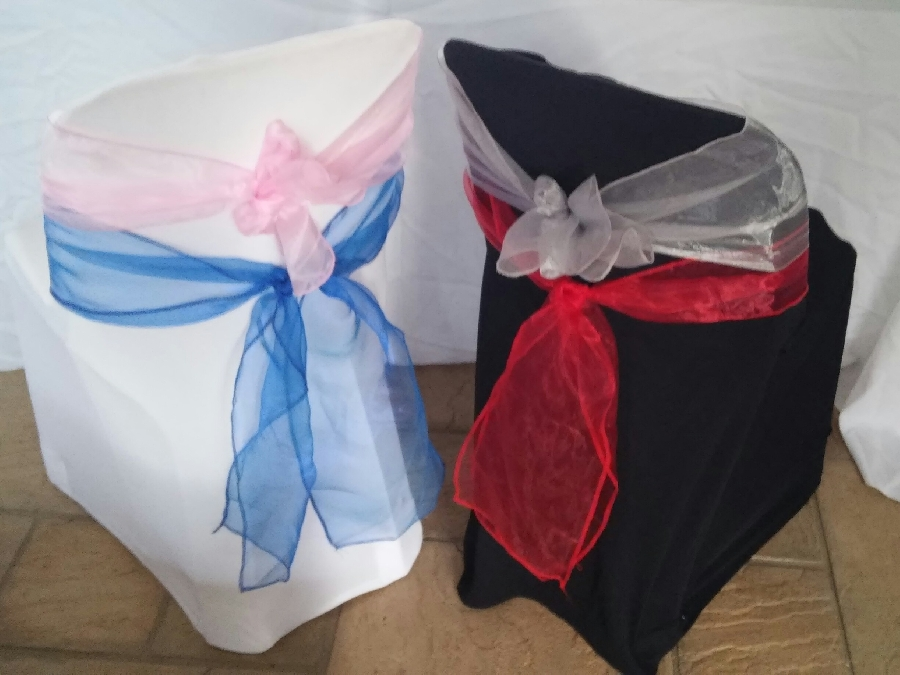 101-party-hire--chair-decoration--chair-tieback-hire--organza-chair-sashes-various-colours-available